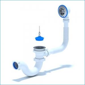 Обвязка для ванной АниПласт с круглым коленом