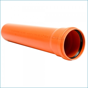 Труба для наружной канализации ⌀110 (2 метра)