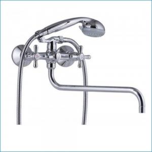 KAISER Carlson 11055 Смеситель для ванны (90гр), излив 350мм, хром