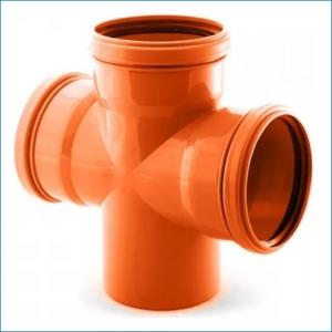 Крестовина для наружной канализации ⌀110, 90°
