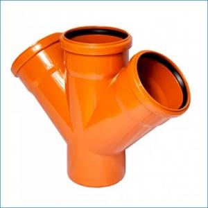 Крестовина для наружной канализации ⌀110, 45°