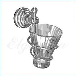 Держатель стакана, стекло Elghansa PRAKTIC PRK-413 , хром