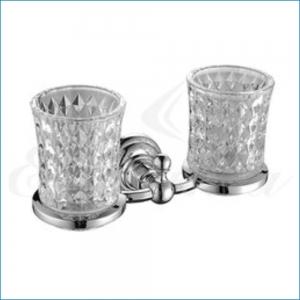 Держатель стаканов двойной, стекло Elghansa PRAKTIC PRK-422 , хром