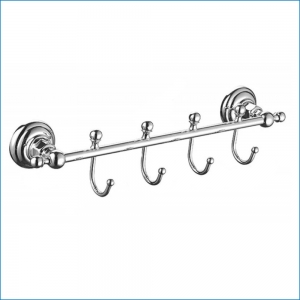 Вешалка с 4 крючками Elghansa PRAKTIC PRK-640 , хром