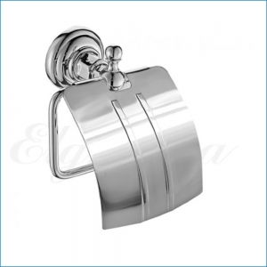Держатель туалетной бумаги с крышкой Elghansa PRAKTIC PRK-300 , хром