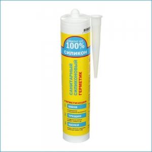 Санитарный силиконовый герметик Белый/Прозрачный