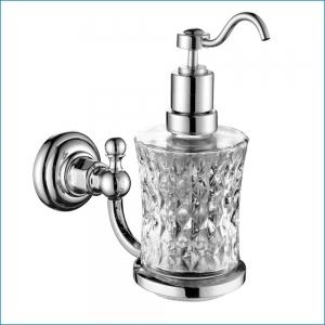 Дозатор для жидкого мыла, стекло Elghansa PRAKTIC PRK-472 , хром