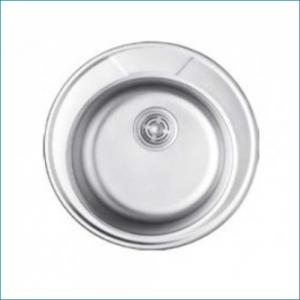 KAISER KSS-490 Кухонная мойка металлическая врезная/круглая (нержавеющая сталь)