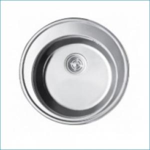 KAISER KSS-510 Кухонная мойка металлическая врезная/круглая(нерж. сталь)