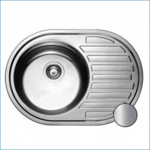 KAISER KSS-7750 Кухонная мойка металл врезная/овальная (нержавеющая сталь)